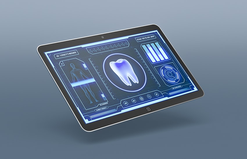 A futuristic medical app with a tooth. Science fiction and media isn't hurting for more killer robot stories. They've pretty much got those covered but robots may now be coming to clean your teeth!