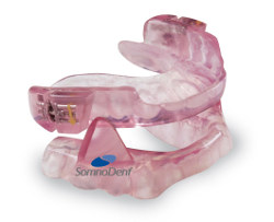 The SomnoDent sleep apnea and snoring treatment appliance from SomnoMed